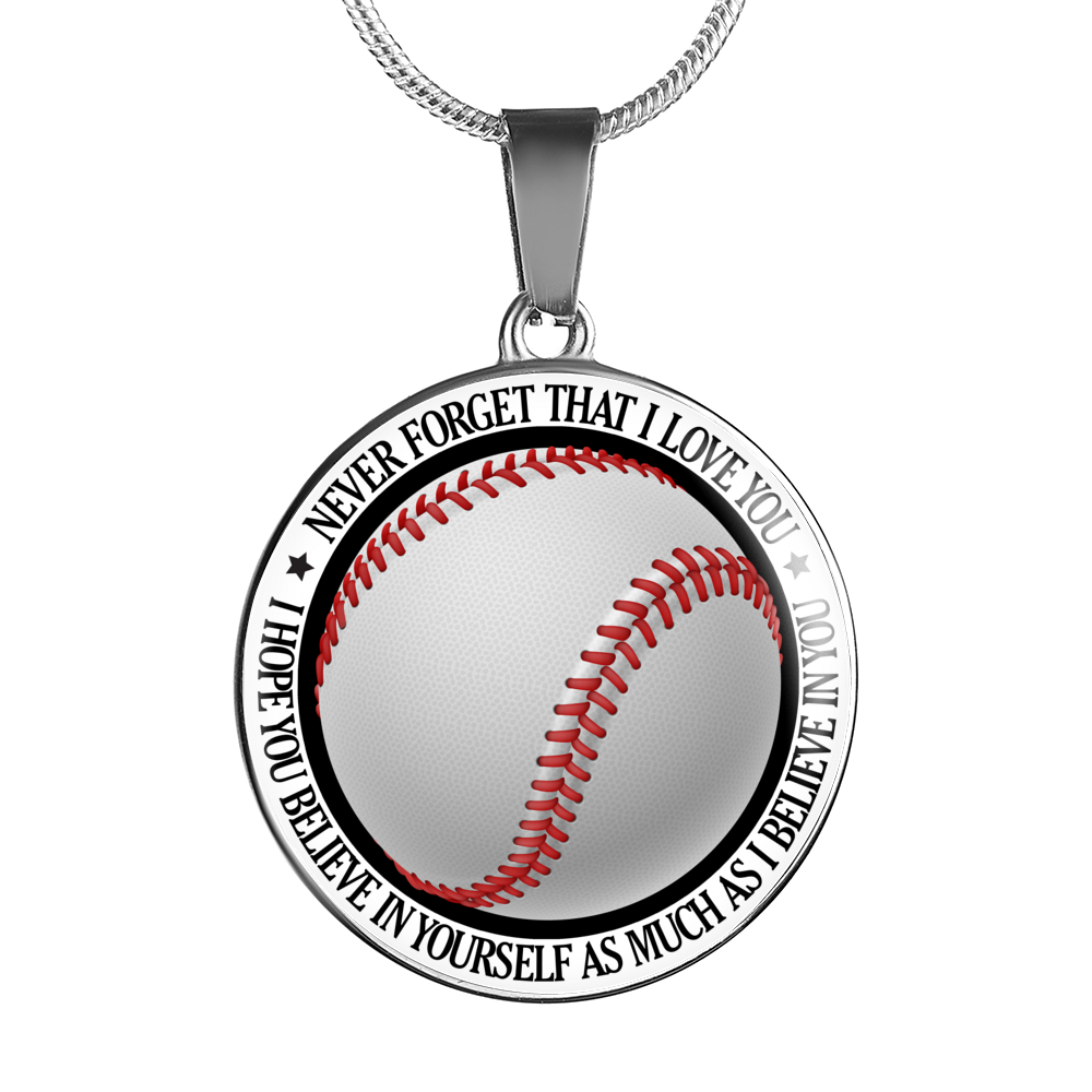 Baseball Necklace - Believe in Yourself - KSO102