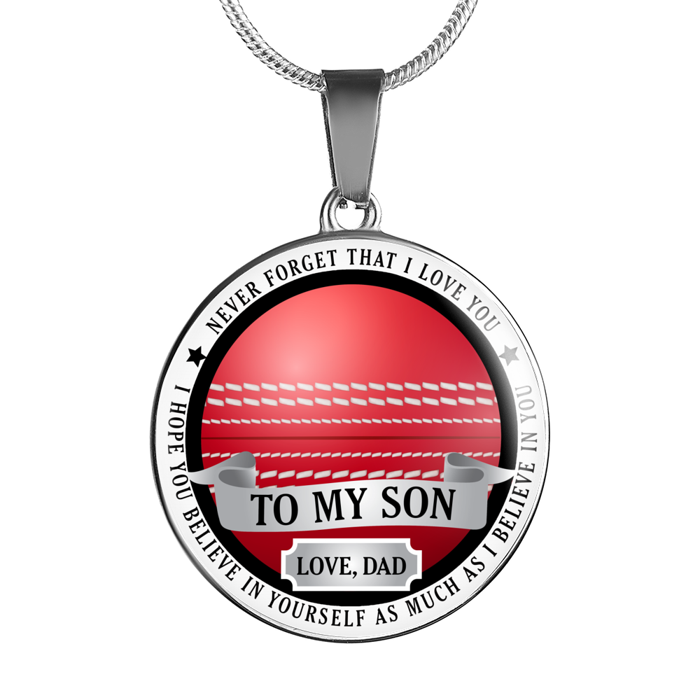 Cricket Necklace - Believe in yourself (To Son. Love Dad)