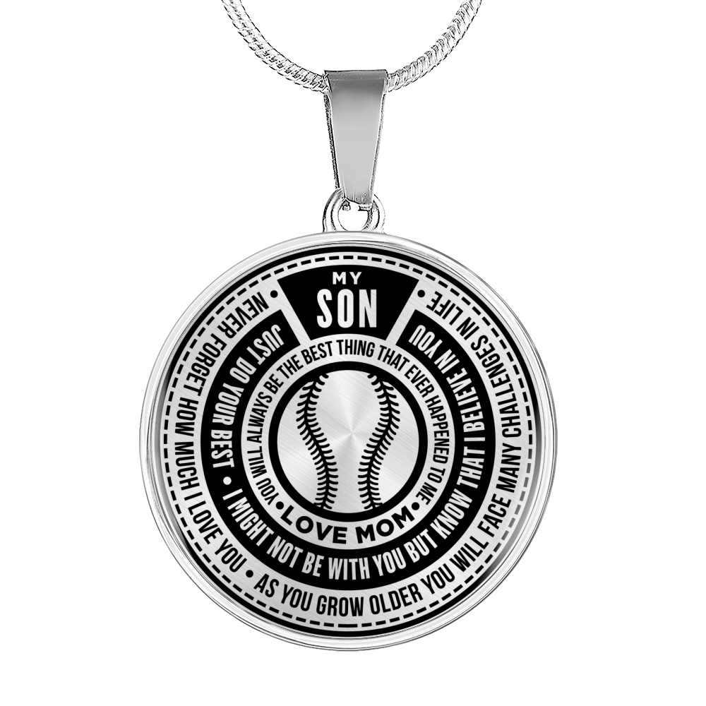Softball - Just Do Your Best Son From Mom Necklace