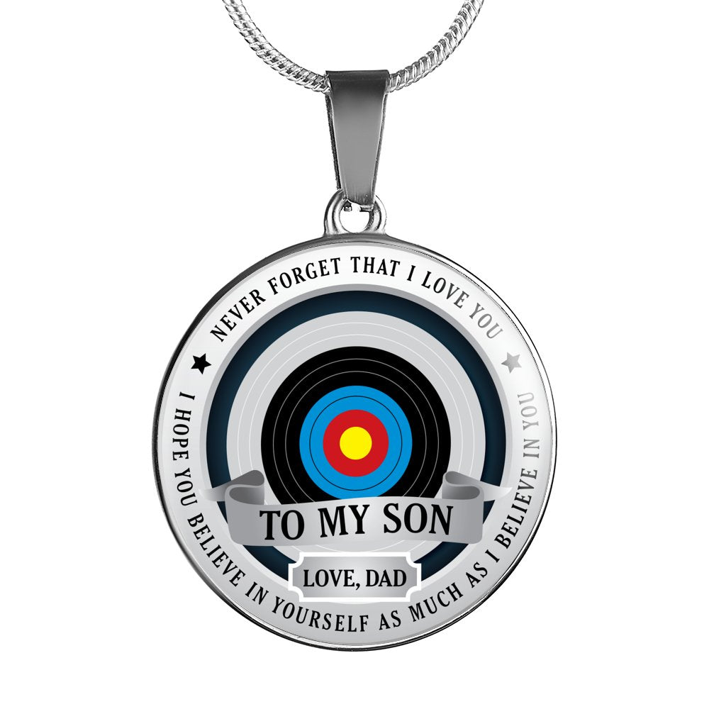 Archery Necklace - Believe in yourself (To Son. Love Dad)