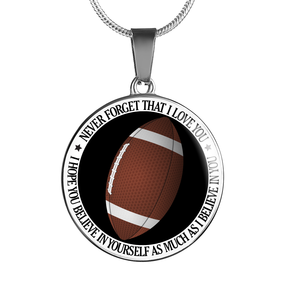 Believe In Yourself (Football) Necklace