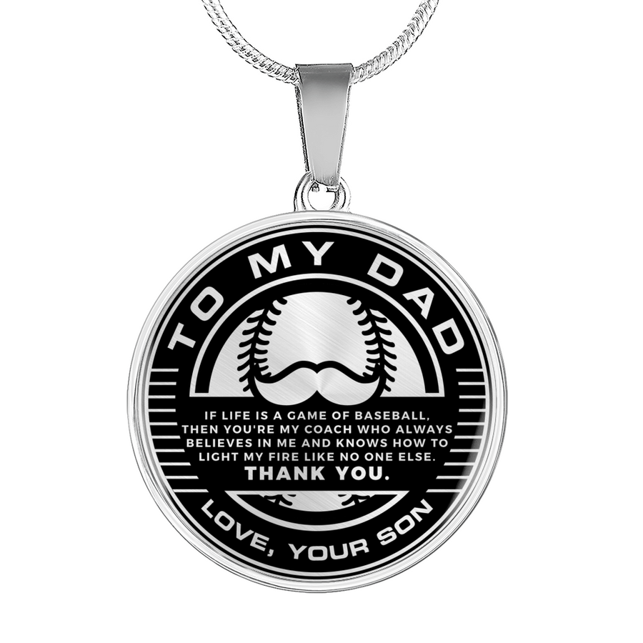 c7a45512 Baseball - To My Dad, You Are My Coach! Necklace