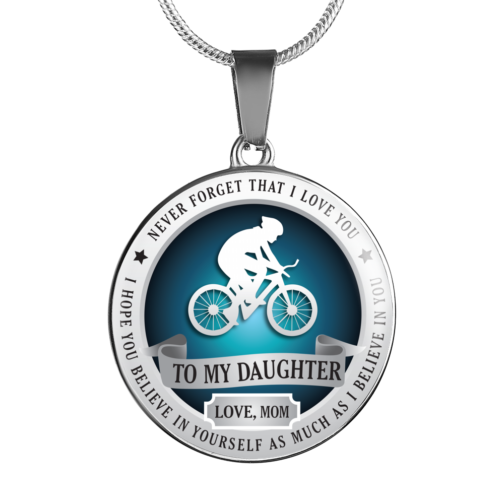 CYCLING NECKLACE - TO DAUGHTER. LOVE MOM