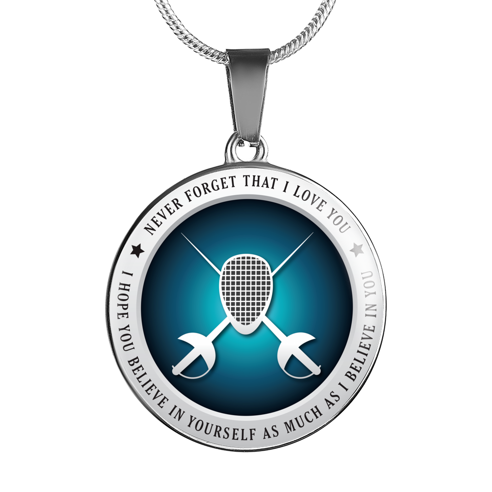 Fencing Necklace - Believe in Yourself