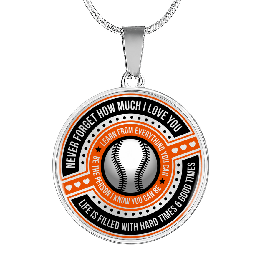 72f12714 Softball - Be The Person I Know You Can Be Necklace