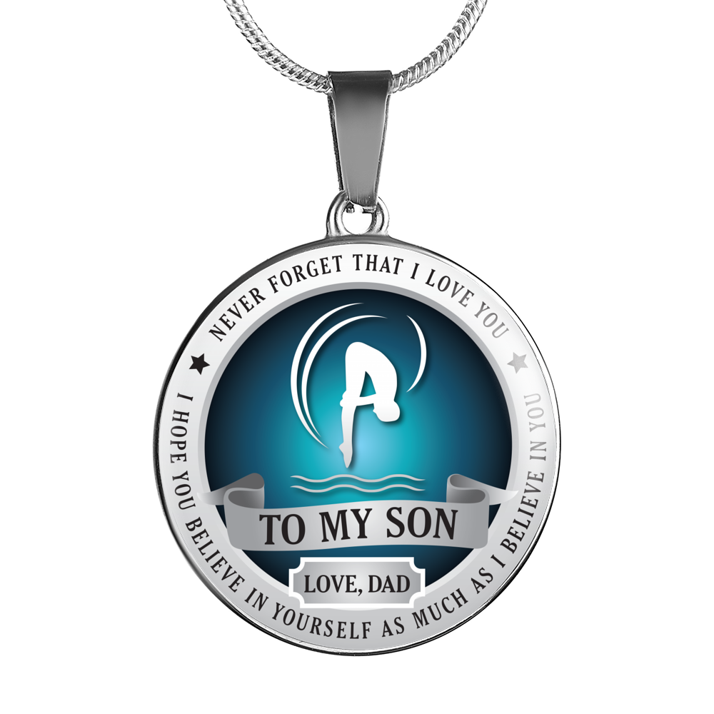 Diving Necklace - Believe in yourself (To Son Love Dad)
