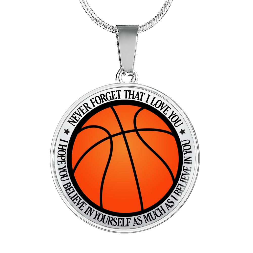 Basketball - Believe In Yourself Necklace - KSO101
