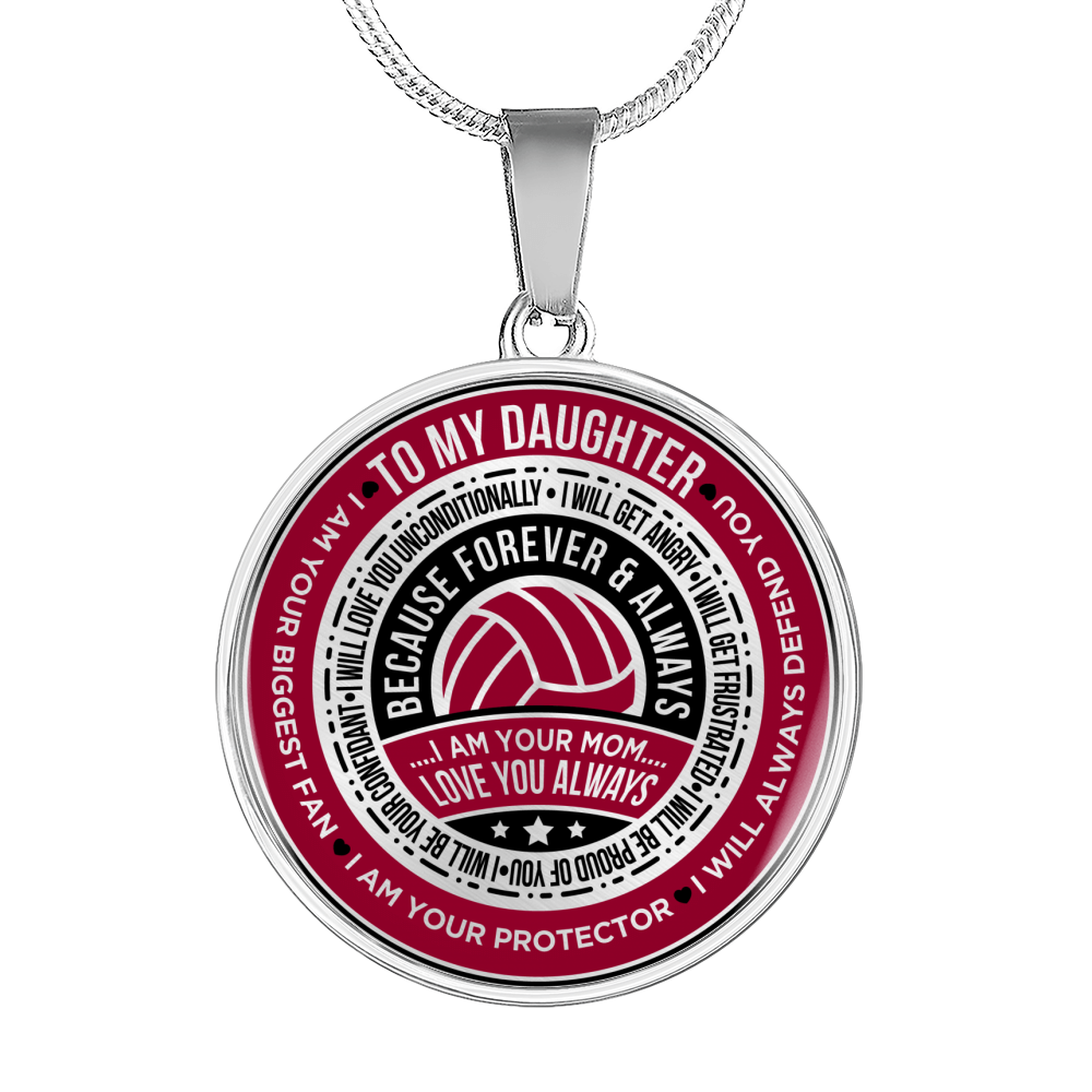 Volleyball - To My Daughter, I Am Your Biggest Fan Necklace