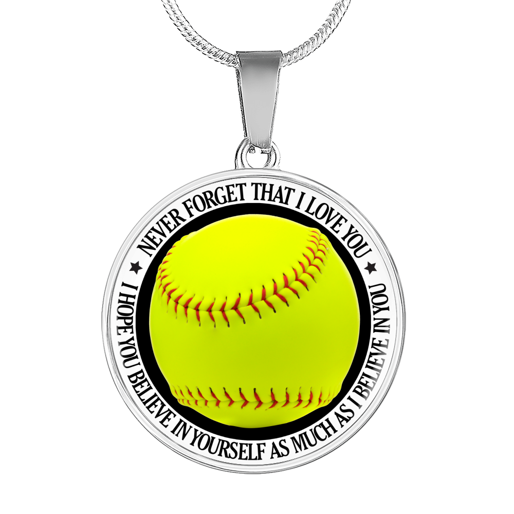 Softball - Believe In Yourself Necklace