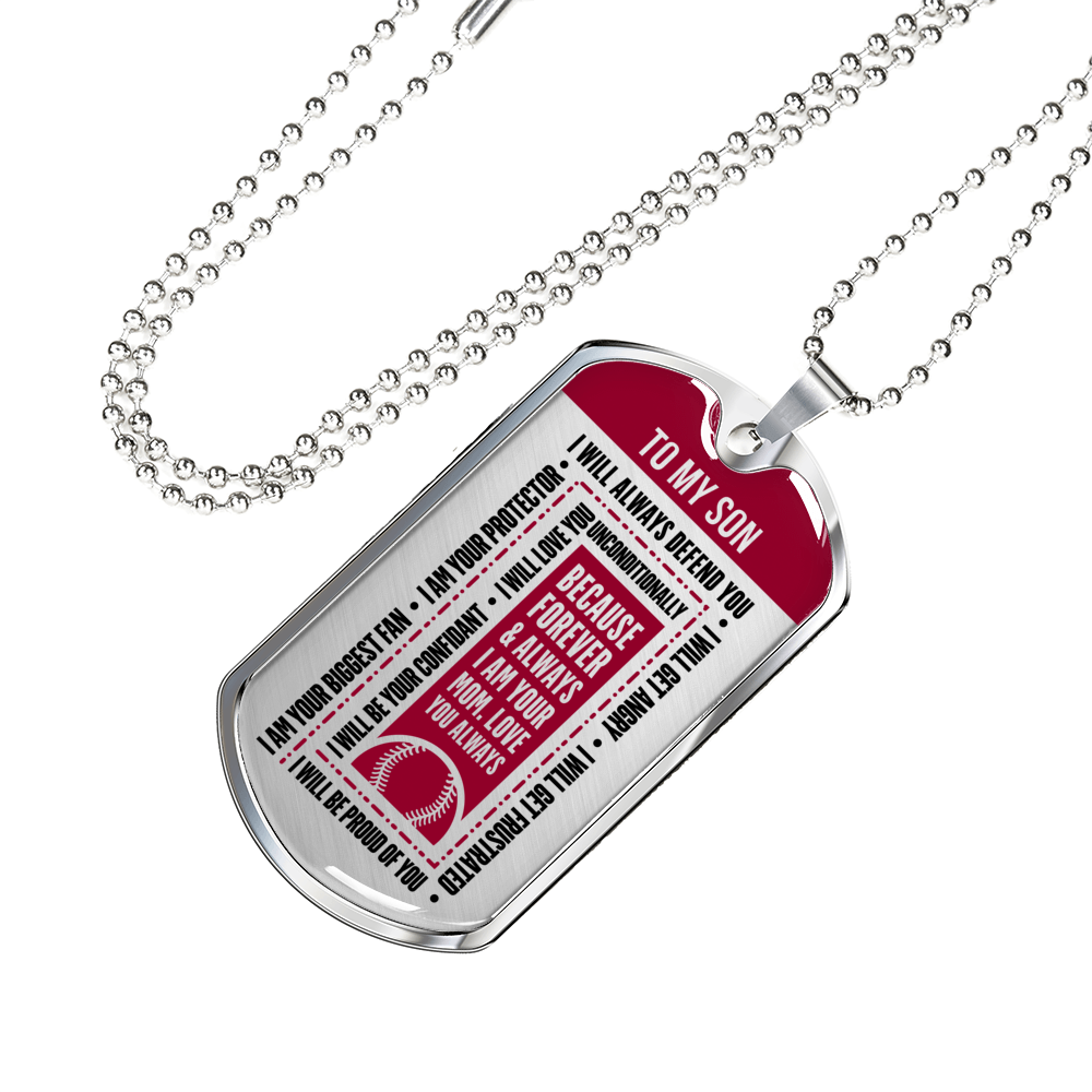 Softball - I Will Always Defend You Son From Mom Dogtag