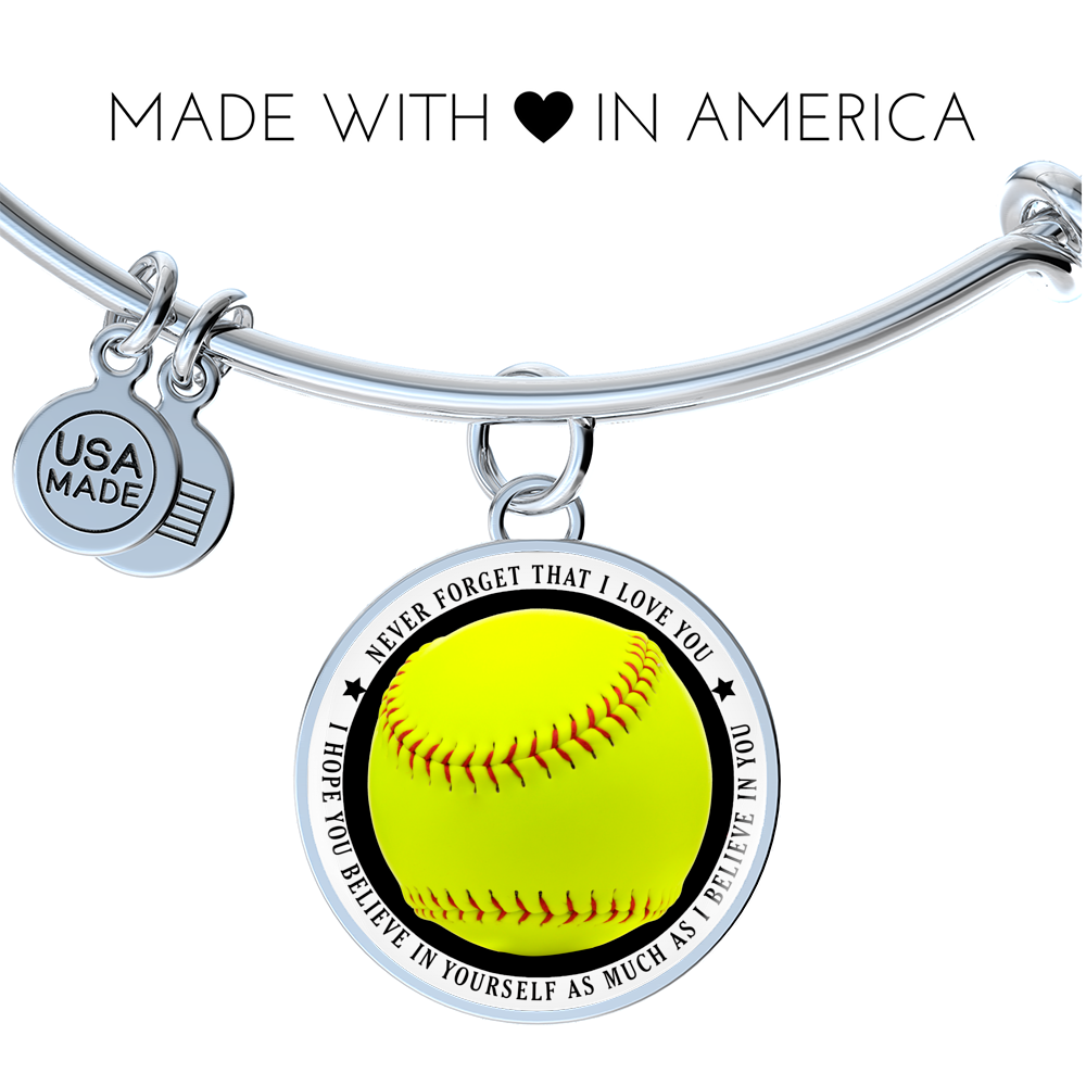 Softball Bangle - Believe in yourself