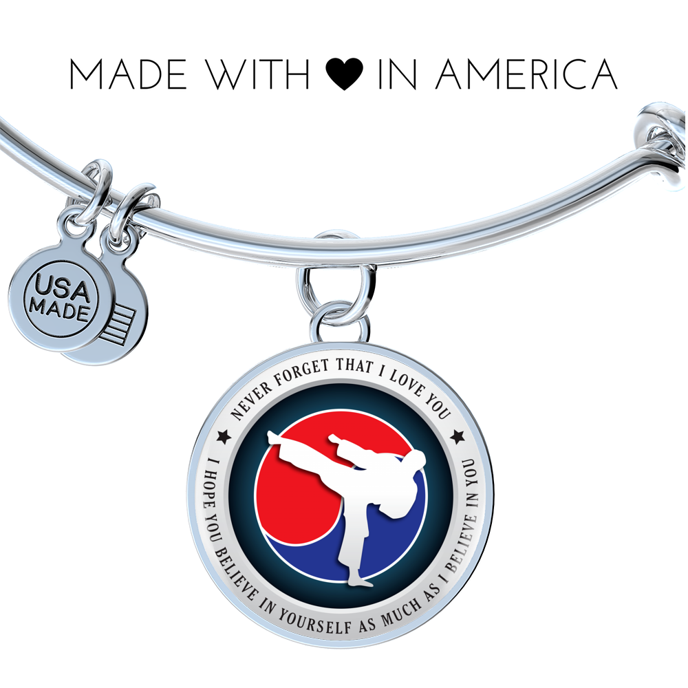 Taekwondo Bangle - Believe in yourself
