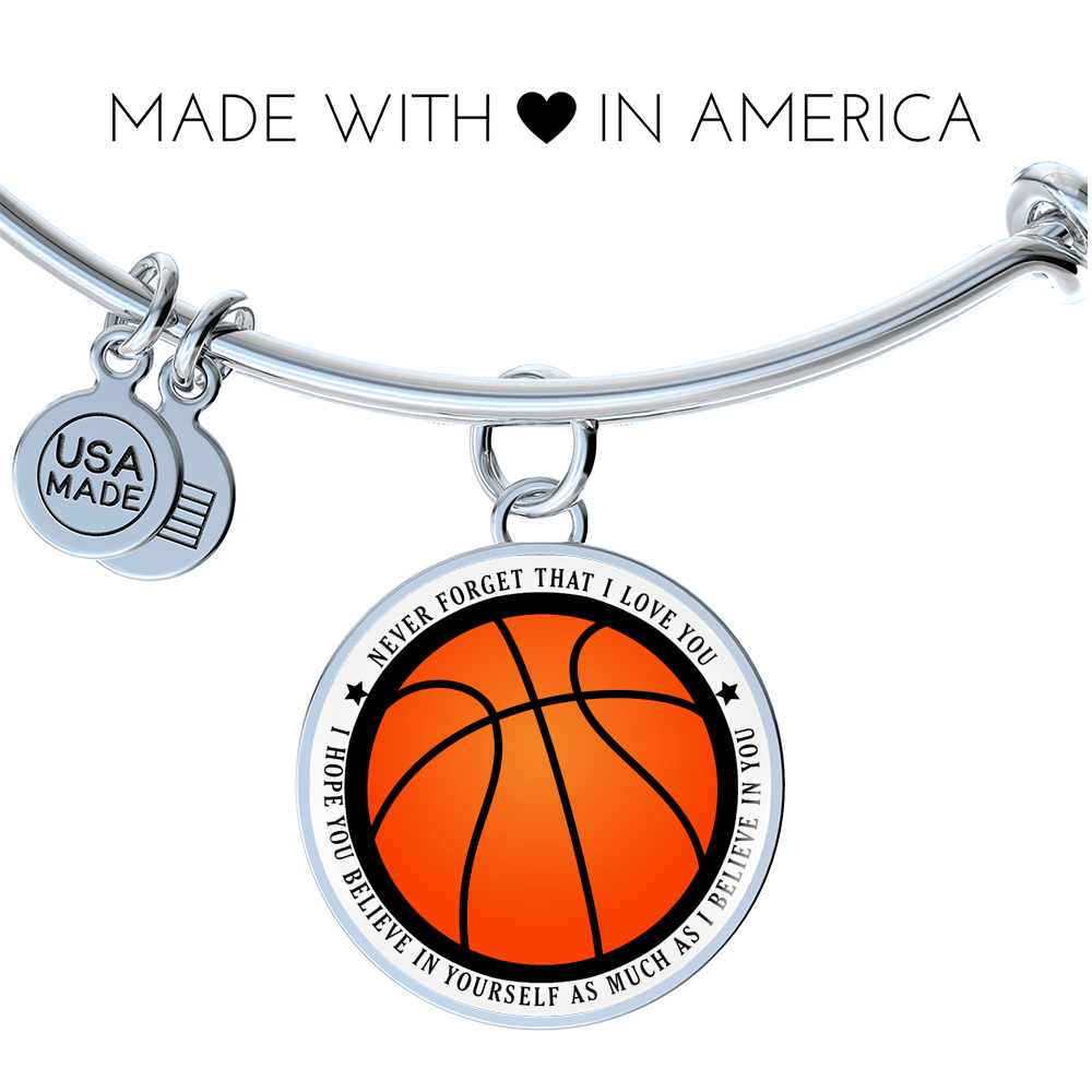 Basketball Bangle - Believe in yourself