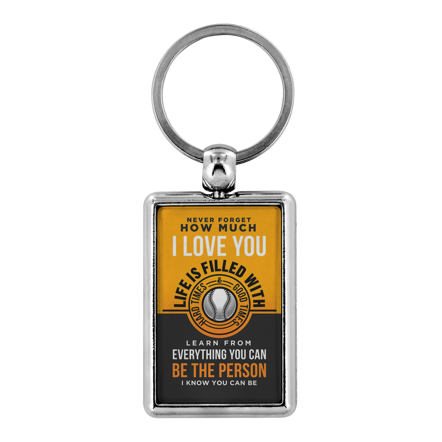 6e7b043e Baseball Keychain - Be the person I know you can be