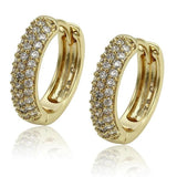 HNS Studio 14K gold plated hoops