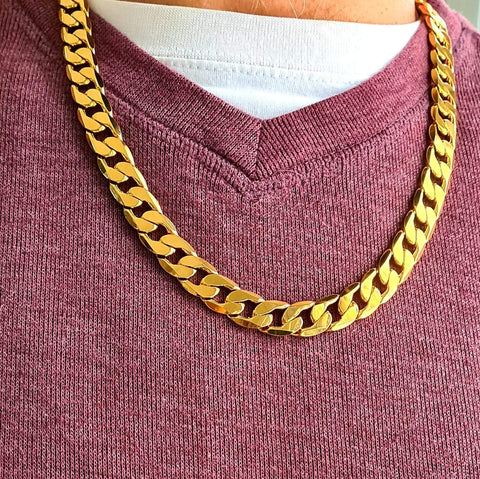 Curb Chain Necklace Gold for Men