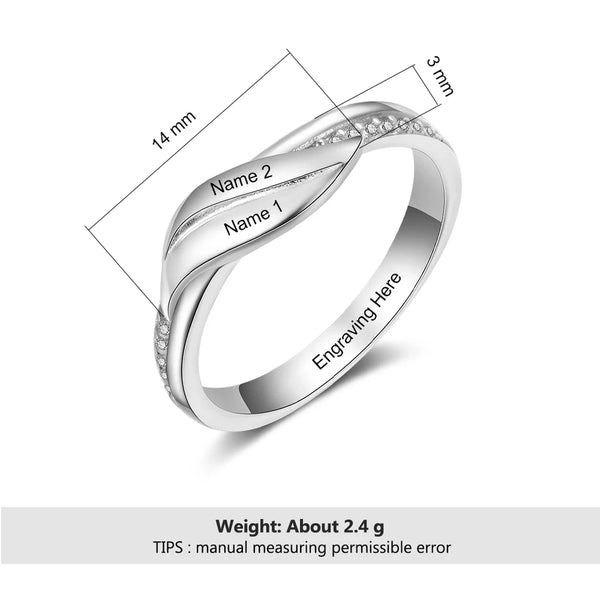 Personalized  Ring With Two Names