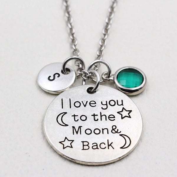 I Love You to the Moon and Back Personalized Necklace- HNS Studio