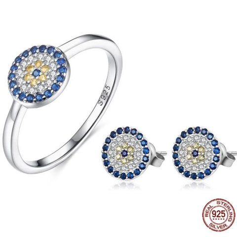 Evil Eye Earring and Ring Set HNS Studio