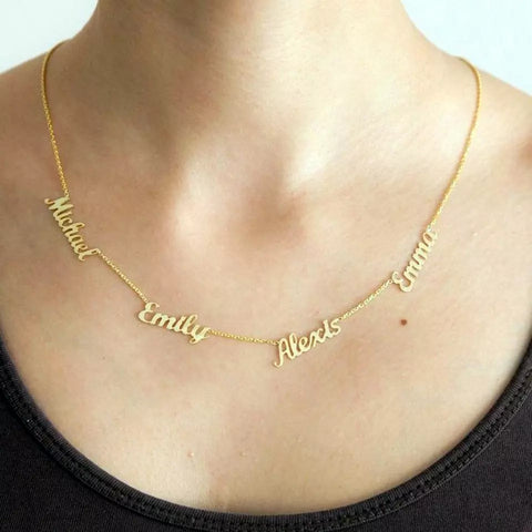 Four Names Necklace