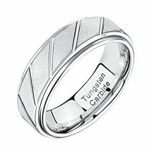 Men's Tungsten Carbide Band-HNS Studio