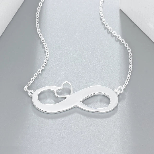 Personalized Name Infinity Necklace with Engraving - HNS Studio