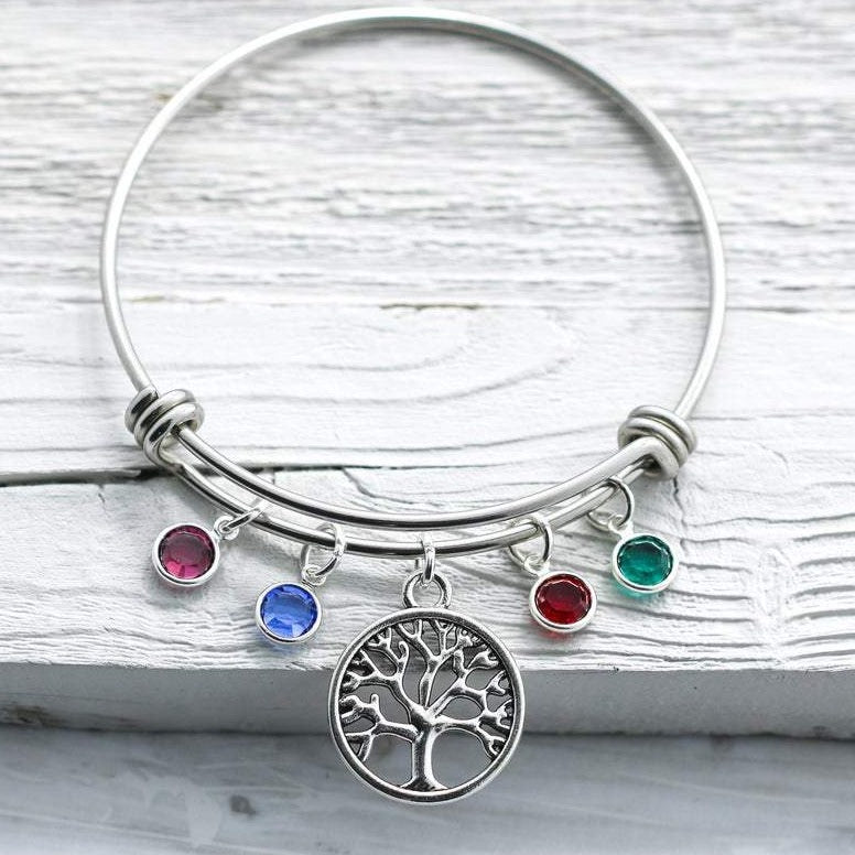Tree of life Family Birthstones Mom bracelet