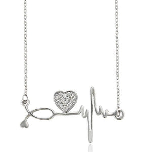 Stethoscope and Heart Necklace HNS Studio Canada