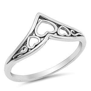 Sterling Silver 925 Heart Thumb Ring Band