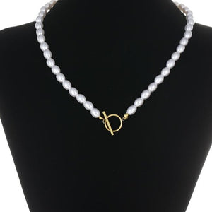 White Pearl Necklace HNS Studio Canada