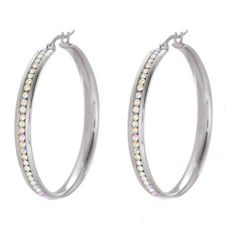 Silver Hoop Earrings HNS Studio Canada