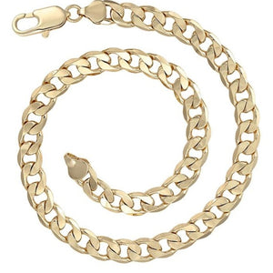 14k Gold Plated Curb Chain Necklace