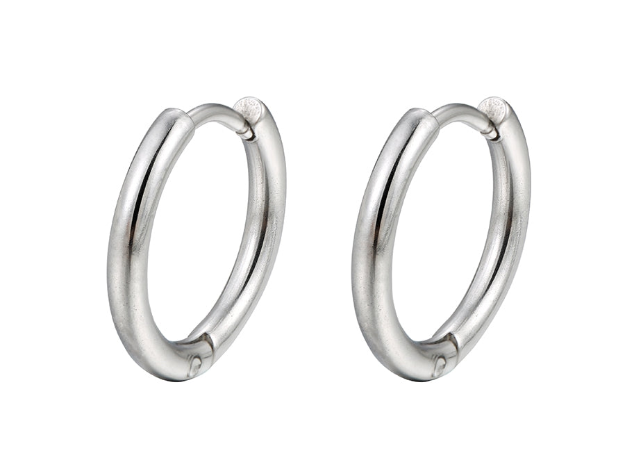 Stainless steel hoop earrings - HNS Studio