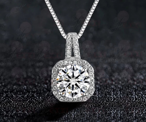 Sterling Silver Cubic Zirconia Necklace - HNS Studio