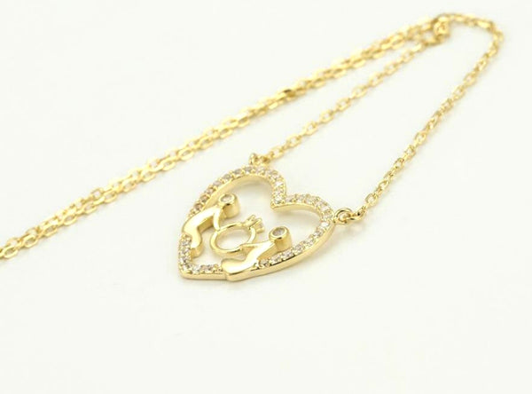 Promise Heart Sterling Silver Necklace - HNS Studio