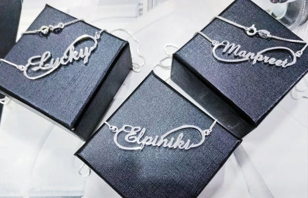 Signature Infinity Sterling Silver Name necklace - HNS Studio
