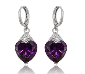 Crystal Silver Drop Earrings - HNS Studio