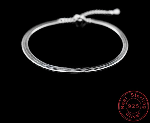 Sterling Silver thick Anklet - HNS Studio