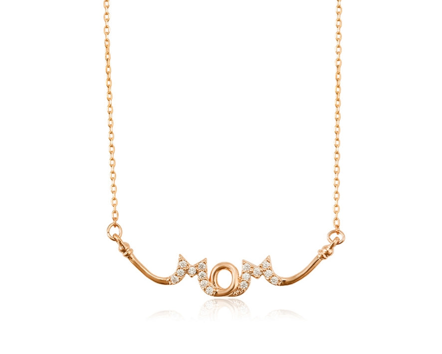 18K Rose gold plated Mom necklace - HNS Studio