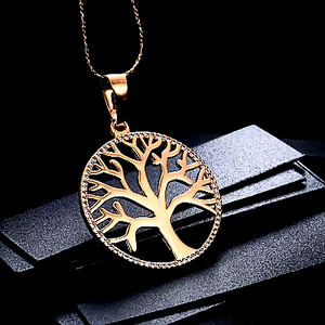 Tree of Life Pendant Necklace 18 K Gold plated - HNS Studio