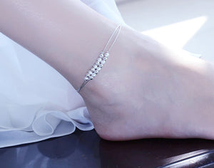 Sterling Silver double layer anklet - HNS Studio