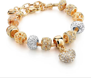 Gold Plated Charm Bracelet for Women - HNS Studio