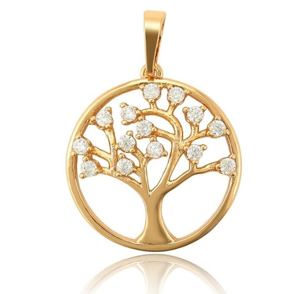 Tree of Life Pendant Necklace 18K Gold plated - HNS Studio