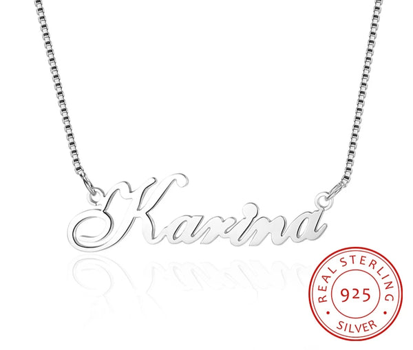 Personalized Name Necklace Sterling Silver - HNS Studio