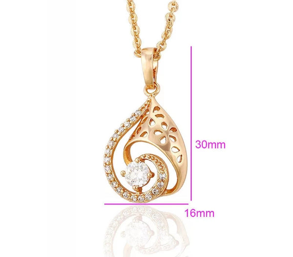 Rose Gold  Pendant Necklace - HNS Studio