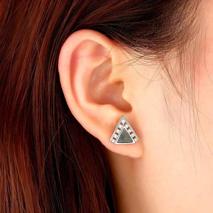Triangle Sterling Silver Studs