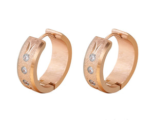 18K Rose gold plated hoops