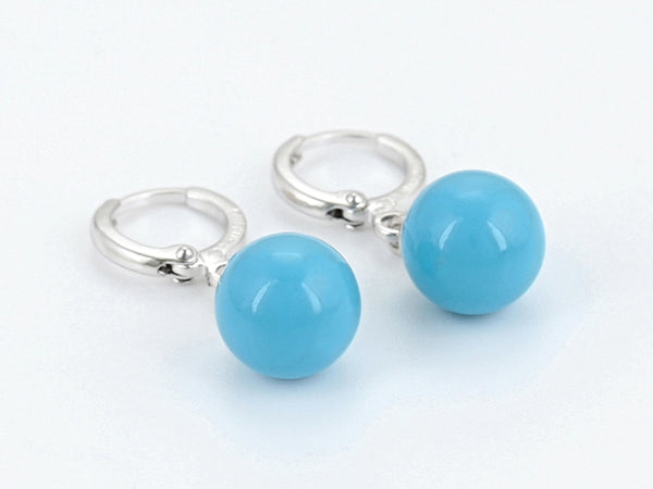 Turquoise Ball Drop Earrings - HNS Studio