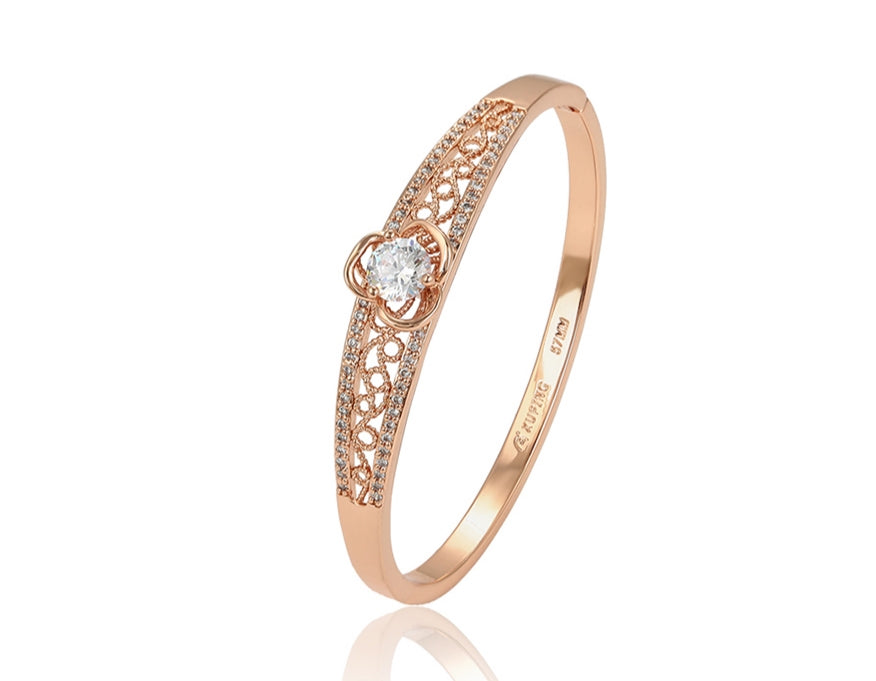 18k Rose Gold Plated Bangle