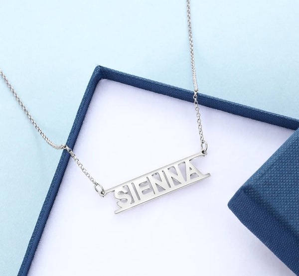 Name Necklace Sterling Silver